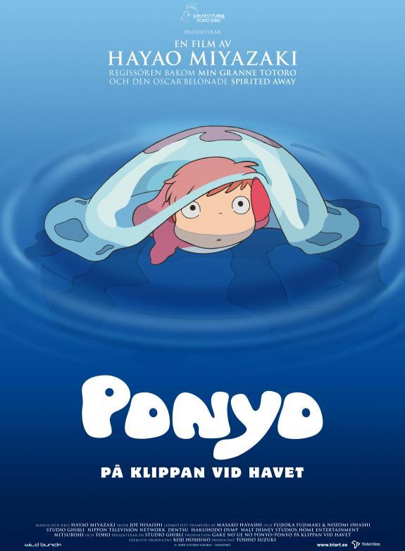 Ponyo på klippan vid havet (Sv. tal) poster