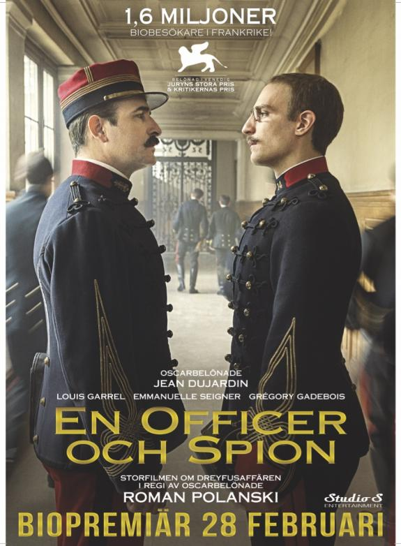 En officer och spion poster
