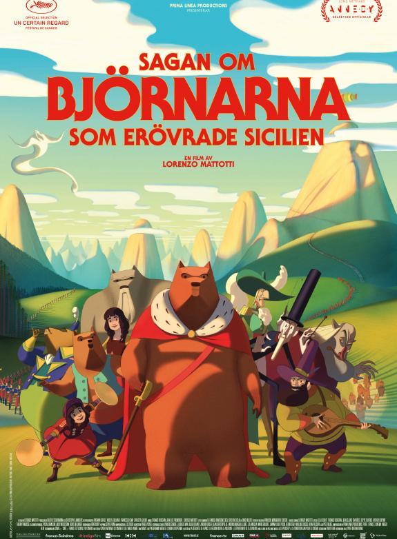 Sagan om björnarna som erövrade Sicilien (Sv. tal) poster