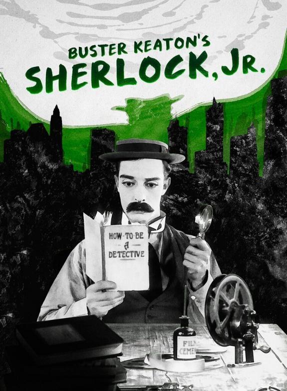 Sherlock Jr. (Fart, flickor och faror) poster